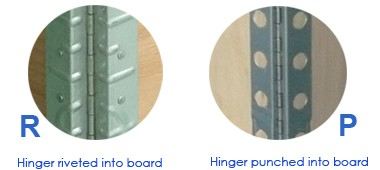 hinges connection on pallet collars